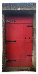 Red Door At The Wine Museum Of Biscoitos Bath Towel
