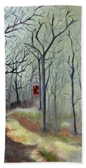 Red Door Hand Towel