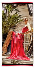 Bath Towel featuring the photograph Red Dress - Chuck Staley by Chuck Staley