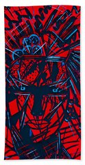 Hand Towel featuring the painting Red Exotica by Natalie Holland