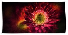 Red Explosion Hand Towel