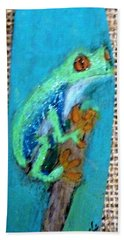 Red-eyed Tree Frog Hand Towel by Ann Michelle Swadener