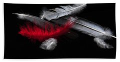 Red Feather Bath Towel