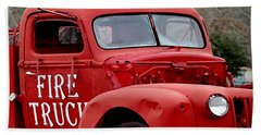 Red Fire Truck Hand Towel