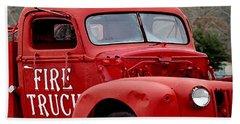 Red Fire Truck Bath Towel
