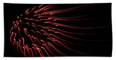 Bath Towel featuring the photograph Red Firework  by Chris Berry