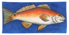 Red Fish Hand Towel