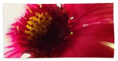 Red Flower Abstract Bath Towel