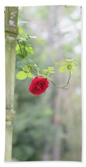 Red Flower Garden Hand Towel