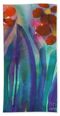 Red Flowers Hand Towel