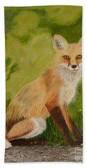 Red Fox 1 Bath Towel