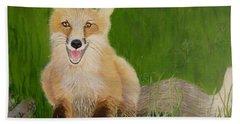 Red Fox 2 Bath Towel