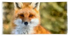 Red Fox Bath Towel
