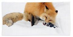 Red Fox To Base Bath Towel