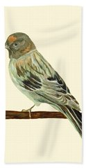 Red-fronted Serin Bath Towel