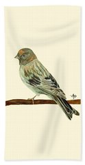 Red-fronted Serin Hand Towel