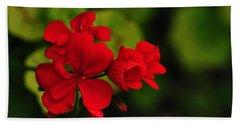 Red Geranium Hand Towel