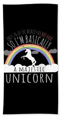 Red Hair Majestic Unicorn Funny Redhead Hand Towel