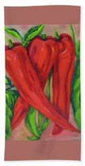 Red Hot Peppers Bath Towel