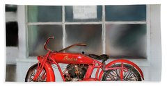 Red Hot Tail Gunner Bath Towel by Colleen Taylor