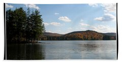 Red House Lake Allegany State Park Ny Bath Towel