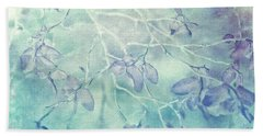 Hand Towel featuring the photograph Red Huckleberry Blues  by Connie Handscomb