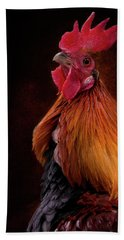 Red Jungle Fowl Rooster Bath Towel