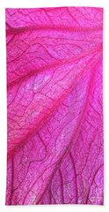 Red Leaf Arteries Hand Towel