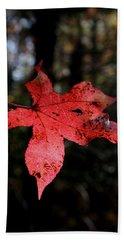 Red Leaf Hand Towel