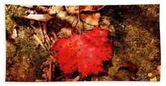 Red Leaf Hand Towel by Meta Gatschenberger