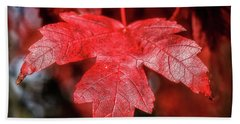 Bath Towel featuring the photograph Red Leaf by Robert Bales