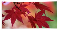 Hand Towel featuring the photograph Red Leaves by Clare Bambers