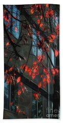 Hand Towel featuring the photograph Red Leaves by Yulia Kazansky