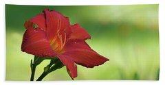 Red Lily Bath Towel