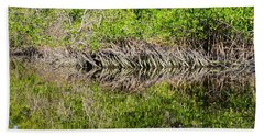 Red Mangrove Airel Roots Along The Gordon River Hand Towel