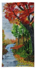 Red Maple Hand Towel