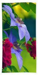 Red Meets Lavender Hand Towel