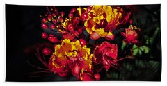 Red Mexican Bird Of Paradise Bath Towel