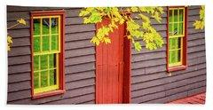 Red Mill Door In Fall Hand Towel