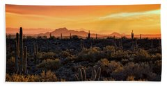 Bath Towel featuring the photograph Red Mountain Sunset Part Two  by Saija Lehtonen