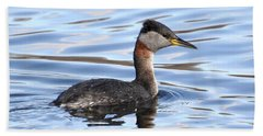 Red-necked Grebe Bath Towel