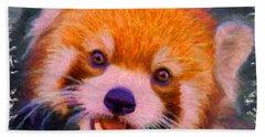 Red Panda Cub Bath Towel