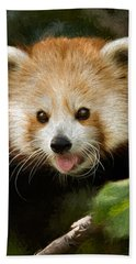 Red Panda Bath Towel by Lana Trussell