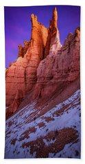 Red Peaks Bath Towel