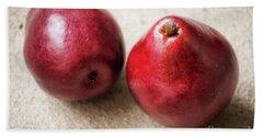 Red Pears Bath Towel