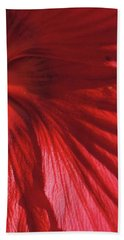 Red Petals Bath Towel