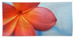 Red Plumeria Paint Hand Towel
