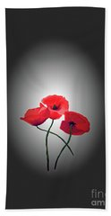 Red Poppies Bath Towel by Lynn Bolt