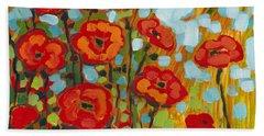 Red Poppy Field Hand Towel