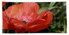 Red Poppy Hand Towel